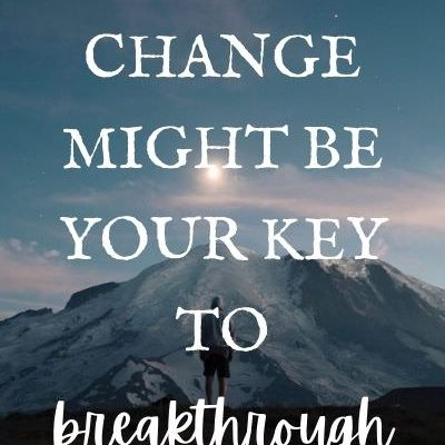 This one change might be your key to breakthrough